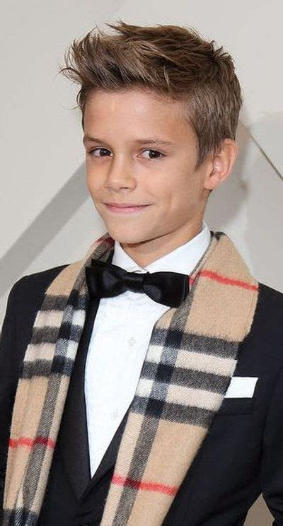 Beckham Boys Hairstyles by Well Dressed Model Romeo Beckham Hair Cuts