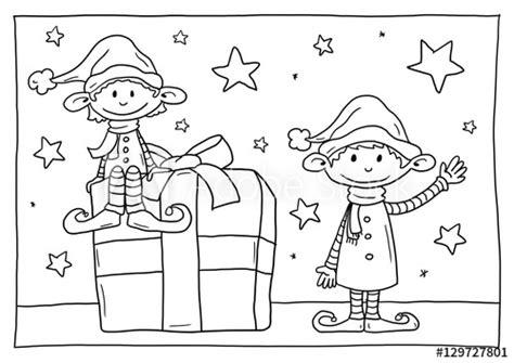 """Mit der kleiner weihnachtswichtel malvorlage aus der kategorie gemischt können sie nichts falsch machen! """"Ausmalbild Wichtel"""" Stockfotos und lizenzfreie Bilder auf Fotolia.com - Bild 129727801"""