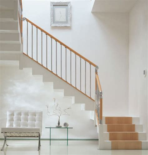 fusion banister fusion handrail stairparts chrome and brushed nickle