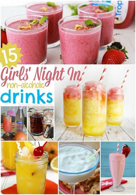 drinks ideas 15 girls night in non alcoholic drink recipes really awesome things pinterest alcoholic