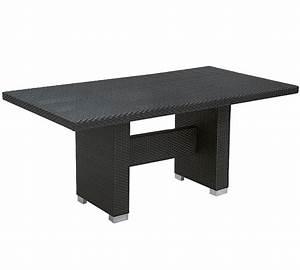 Polyrattan Tisch Rund : mbm lounge esstisch combo 80x150cm mocca polyrattan art jardin ~ Orissabook.com Haus und Dekorationen