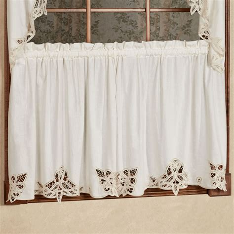 Battenburg Lace Curtains Ecru by Lace Tier Curtains Rooms