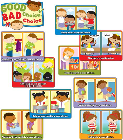Good Choice, Bad Choice Bulletin Board Set Grade Pk2  Carsondellosa Publishing