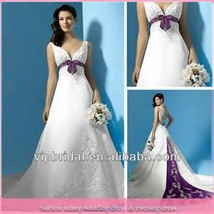 wedding dresses with purple accents wedding gowns with color accents