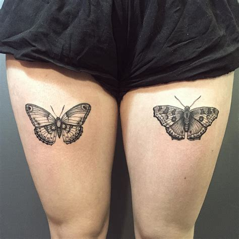 Butterfly Thigh Tattoos Designs, Ideas And Meaning