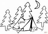 Tent Coloring Camping Pages Sleeping Printable Drawing Hiking Supercoloring Sc Print Version St Paper Under Dot sketch template