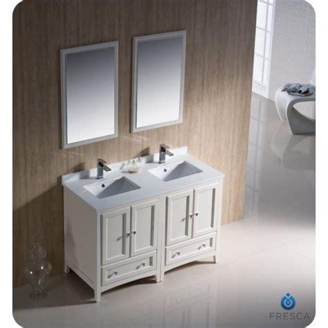 fresca oxford 48 quot bathroom vanity in antique white fvn20