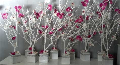 diy crystal and orchid tree centerpieces weddingbee