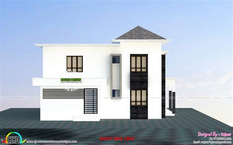 budget villa  side view kerala home design