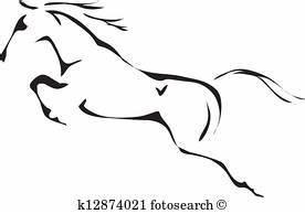Pferdekopf Schwarz Weiß : pferd clip art eps bilder pferd clip art vektor illustrationen von mehr als 15 anbietern ~ Watch28wear.com Haus und Dekorationen