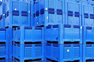 Plastic boxes storage stock photo. Image of transport ...