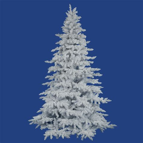 12 foot flocked white spruce tree unlit a893690