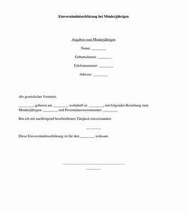 Einverständniserklärung Eltern Arbeit : einverst ndniserkl rung minderj hrige muster ~ Haus.voiturepedia.club Haus und Dekorationen
