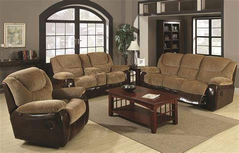 Sofa Loveseat And Chair Set by Malena 2 Reclining Sofa Loveseat Set In Two Tone