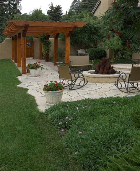 Backyard Patio Ideas by Patio And Pergola Home Backyard