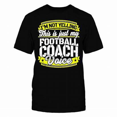 Coach Football Funny Voice Fanprint Awesome