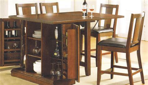 kitchen island dark oak finish counter height  piece