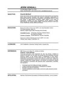 Officers Resume by Officer Resume Sle Objective Http Www