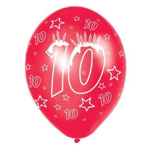 ballons anniversaire 10 ans ballons 10 ans