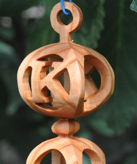 Handmade 3d Wooden Ornament With Initial Or By