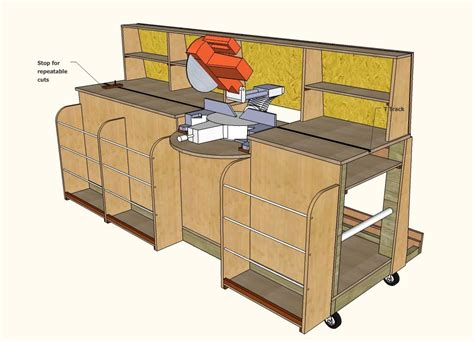 Portable Miter Saw Table Plans