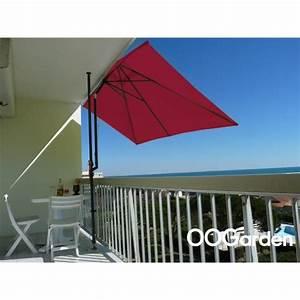 Parasol De Balcon Inclinable : parasol de balcon rectangulaire leo framboise achat ~ Premium-room.com Idées de Décoration