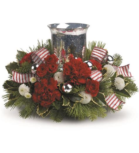 christmas centerpieces delivered teleflora s jolly centerpiece twr10 3a 60 26