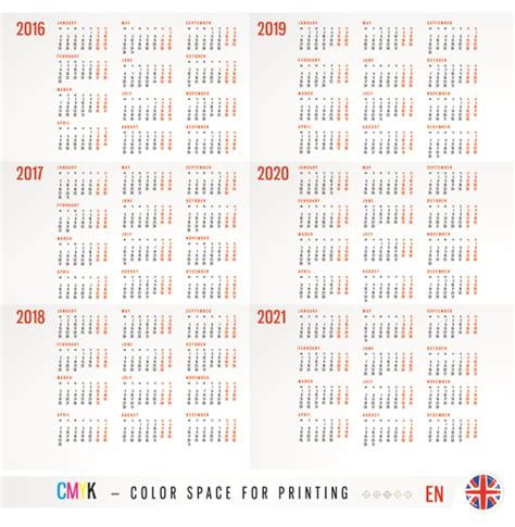 grid calendar design vector