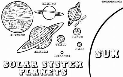 Planets Coloring Solar System Planet Space Printable