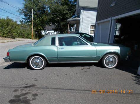 Dodge Diplomat For Sale by 1979 Dodge Diplomat Medallion Coupe 2 Door 3 7l Quot No