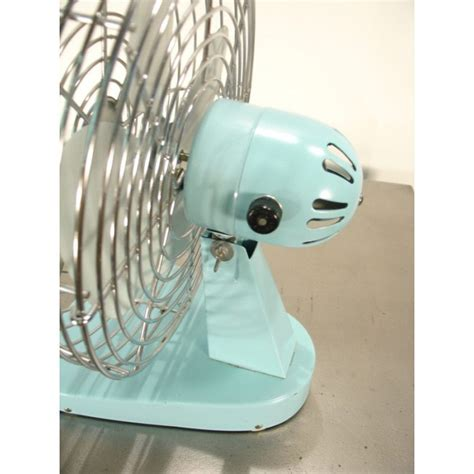 Small Vintage Desk Fan Small Sky Blue 1960s