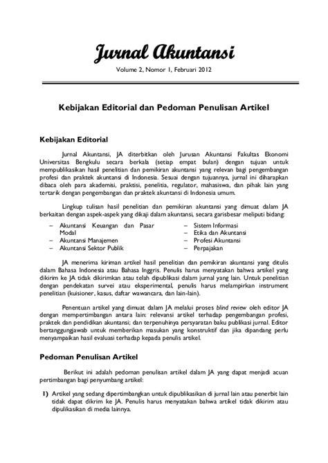Jurnal akuntansi volume 2 – nomor 1%2 c februari 2012