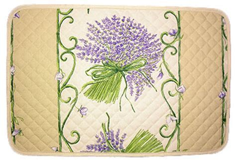 Provence quilted Placemat, non coated (lavender. beige x