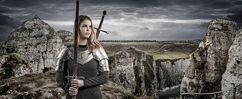 Sword Wielding Viking Warrior Young Blond Female In Wild ...