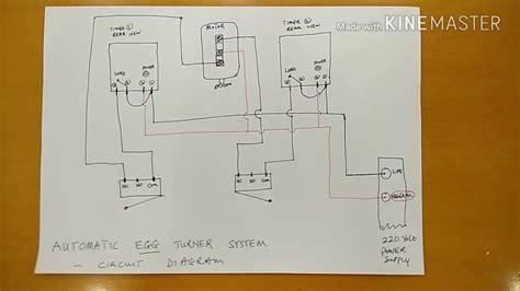 incubator automatic turning system circuit diagram