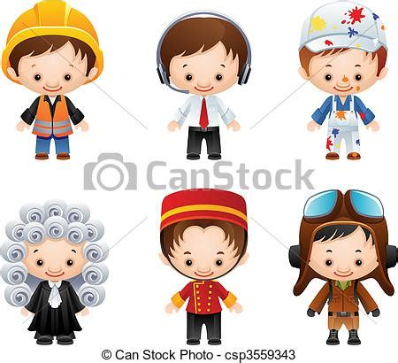 12202 different professions clipart occupation icons vector illustration set of