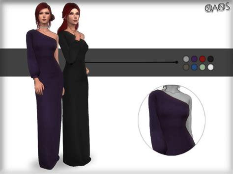 shoulder maxi dress  oranostr  tsr sims  updates