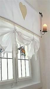 Raffrollo Landhaus Shabby : gardine volant gardinenschal schlaufenschal landhaus ~ Watch28wear.com Haus und Dekorationen