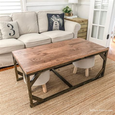 Pete shows how to build a farmhouse style coffee table and then how to distress it. DIY Rustic Farmhouse Coffee Table with Footstool Storage