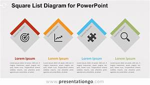 Square List Diagram For Powerpoint