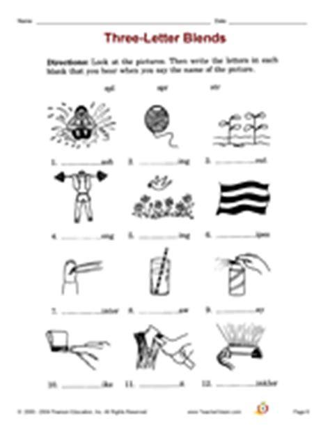 3 letter blends teachervision