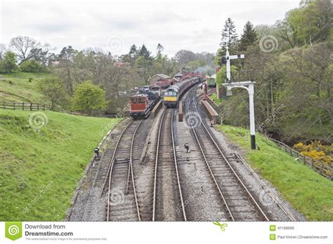 Traditional Old English Railway Station In Rural Setting Stock Image  Image 41168999