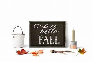 Hello Fall Wood Framed Sign - Lovejoy Workshop