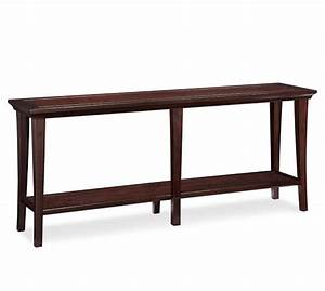 Metropolitan long console table pottery barn for How to choose the right long sofa table