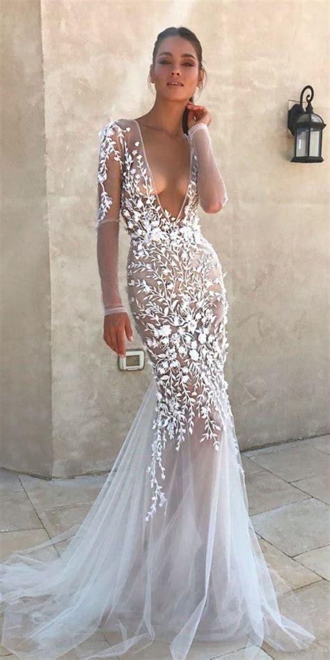 stunning long sleeve wedding dresses  brides