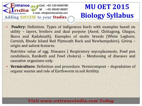 oet medical syllabus  entranceindia