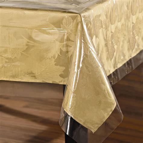 clear plastic table protector clear rectangle tablecover