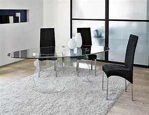 Dining room stunning oval glass dining room table for for Oval glass dining room table