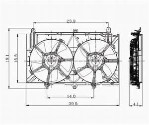 350z    G35 Radiator Cooling Fan Assembly  Performance Oem