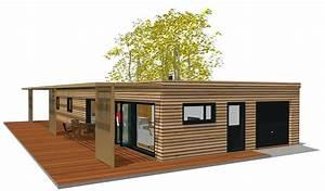 Maison Moderne Toit Plat : maisons contemporaines de plain pied maison bois toit plat ~ Nature-et-papiers.com Idées de Décoration